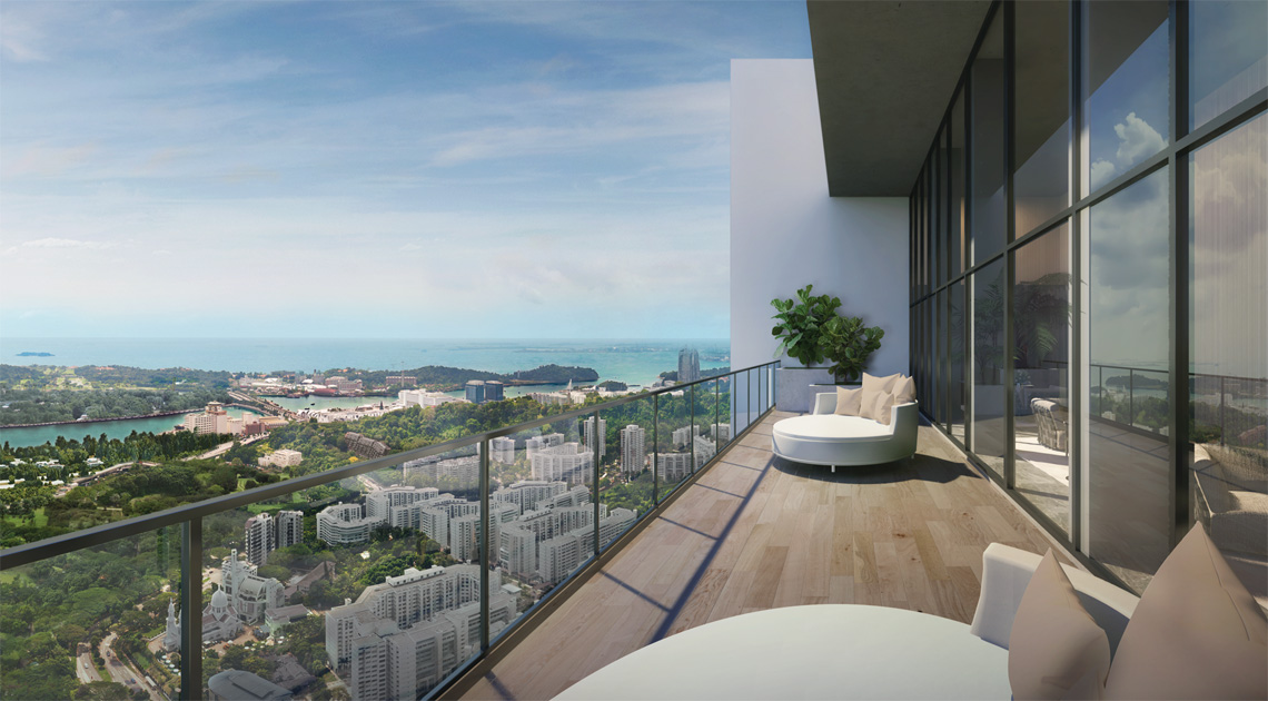 Avenue South Residence panoramic sea view
